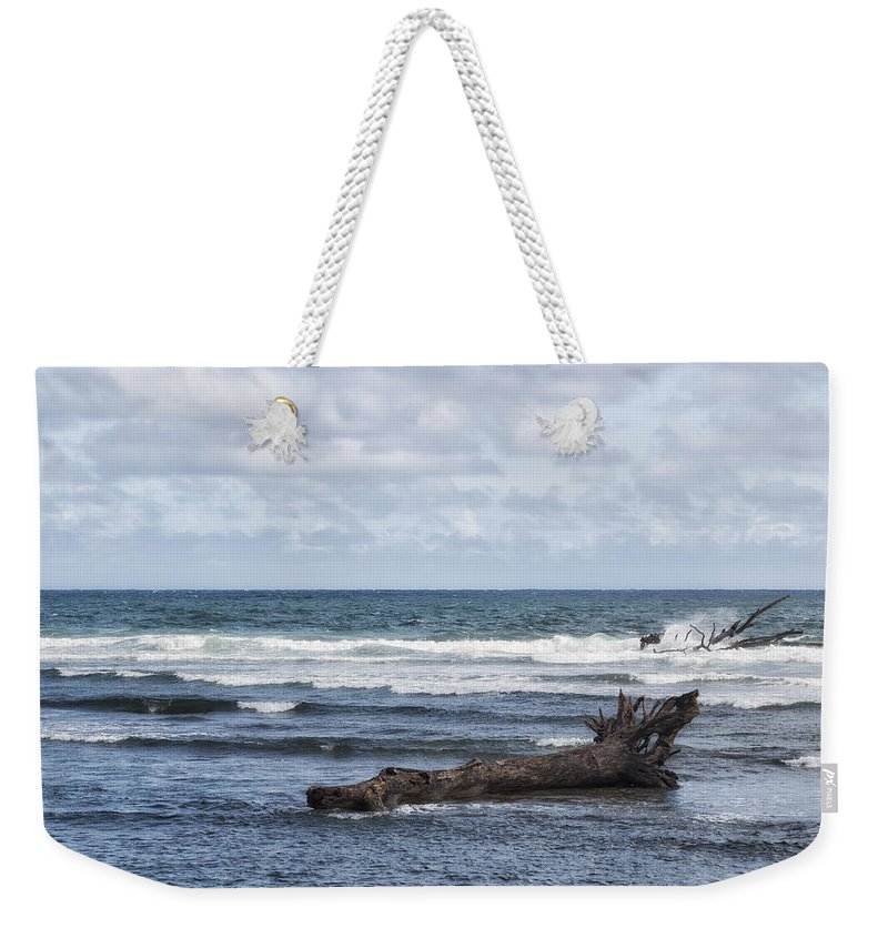 Sea Weekender Tote Bag featuring the photograph What The Sea Brought Back by Belinda Greb