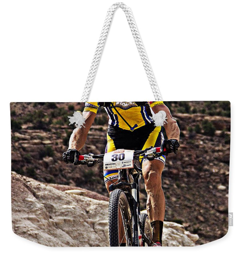 Colorado Weekender Tote Bag featuring the photograph Wheel Up by Bob Hislop