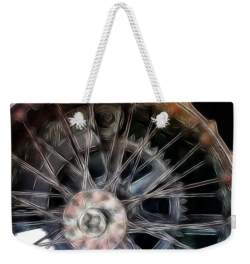 Metal Weekender Tote Bag featuring the photograph Wheels by Ericamaxine Price