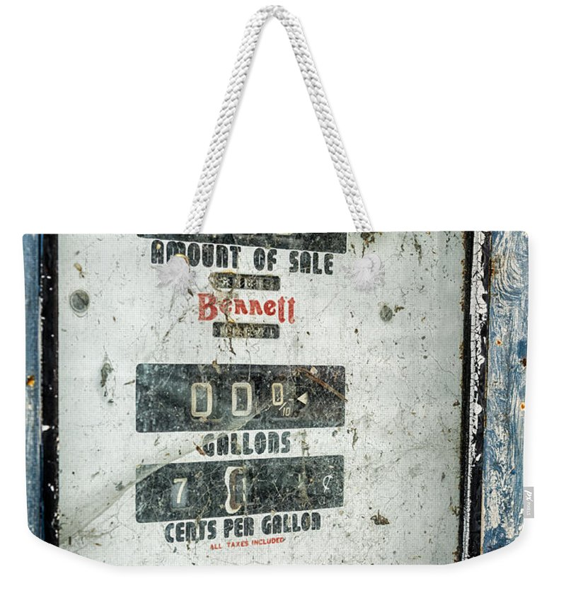 Gas Pump Weekender Tote Bag featuring the photograph When Gas Made Cents by Caitlyn Grasso