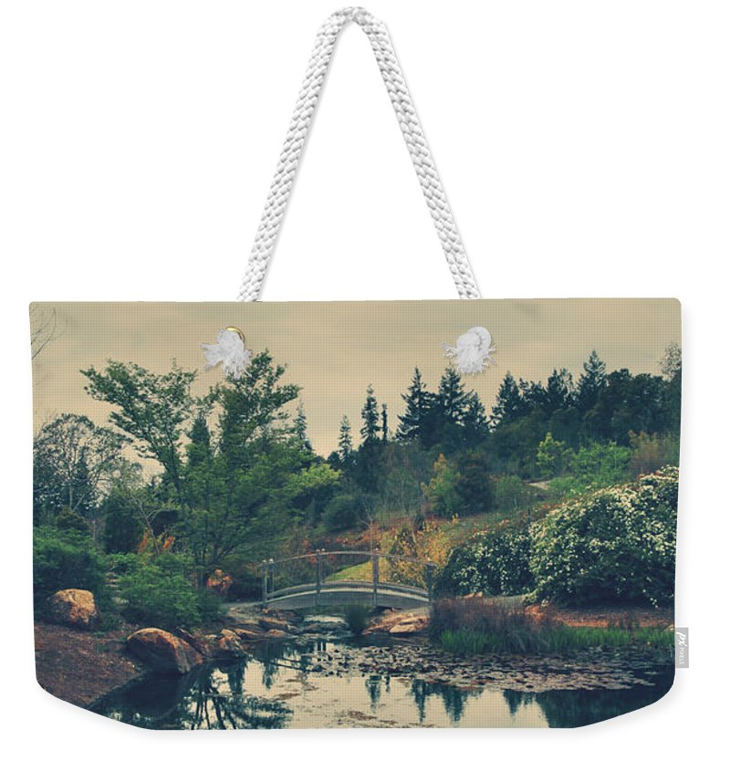 Quarryhill Botanical Garden Weekender Tote Bag featuring the photograph When It's Sweet by Laurie Search