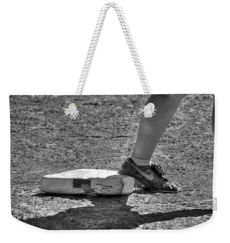 Baseball Weekender Tote Bag featuring the photograph When Stealing Is Actually Encouraged by Michael Frank Jr
