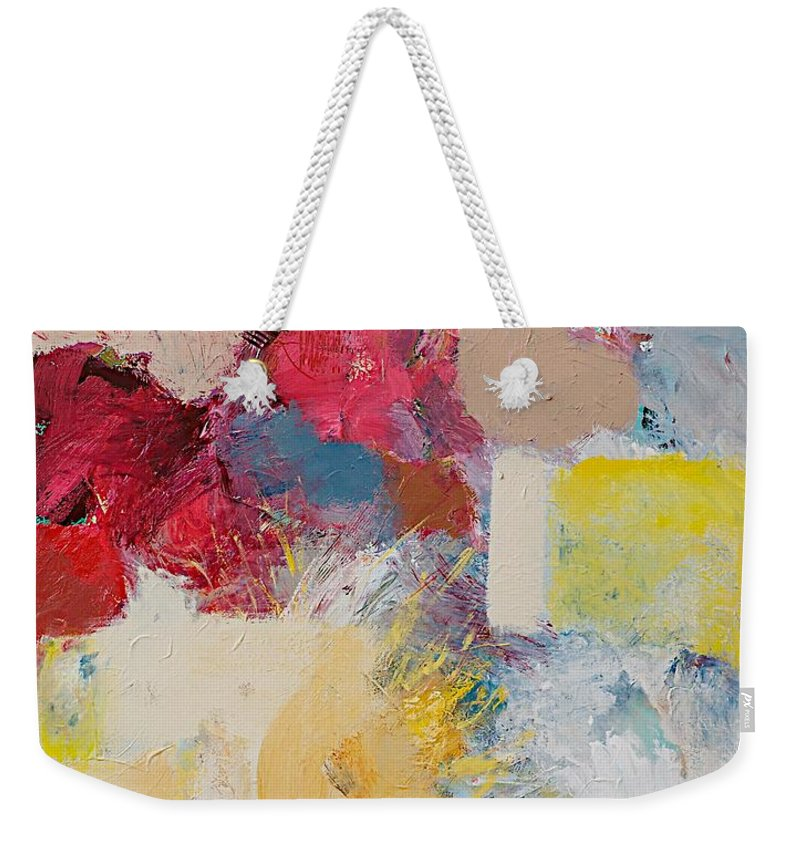 Color Weekender Tote Bag featuring the painting When The Angels Sing by Allan P Friedlander