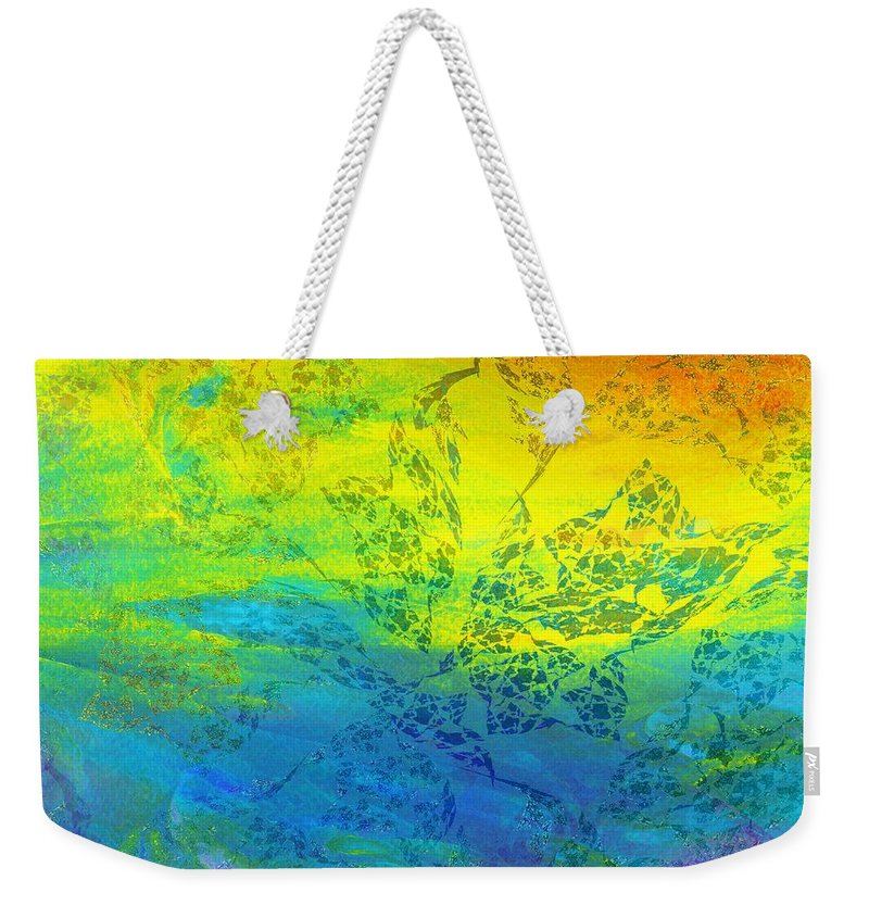 Sunset Weekender Tote Bag featuring the digital art When The Sun Goes Down by Klara Acel