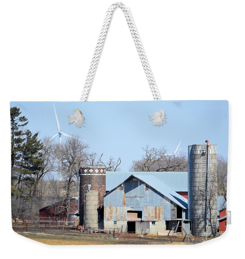 Barn Weekender Tote Bag featuring the photograph When Worlds Collide by Bonfire Photography