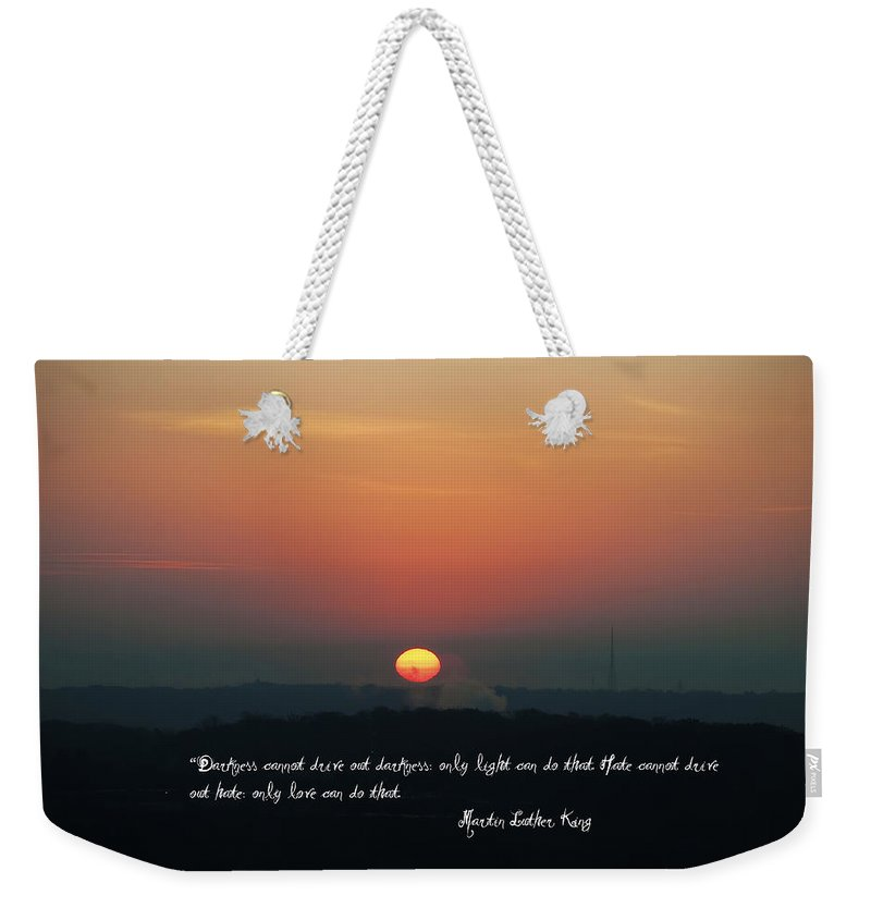 Darkness Weekender Tote Bag featuring the photograph Where Do We Go From Here by Bill Cannon