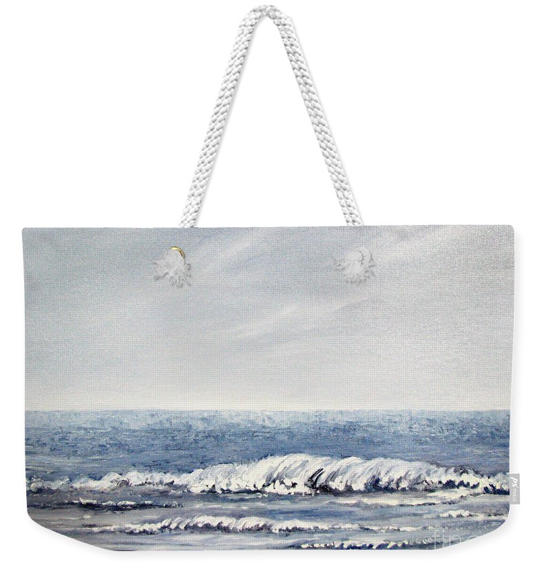 Seascape Weekender Tote Bag featuring the painting Where I Want To Be by Todd A Blanchard