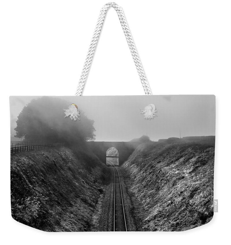 Atmospheric Weekender Tote Bag featuring the photograph Where Is Steam Train by Svetlana Sewell