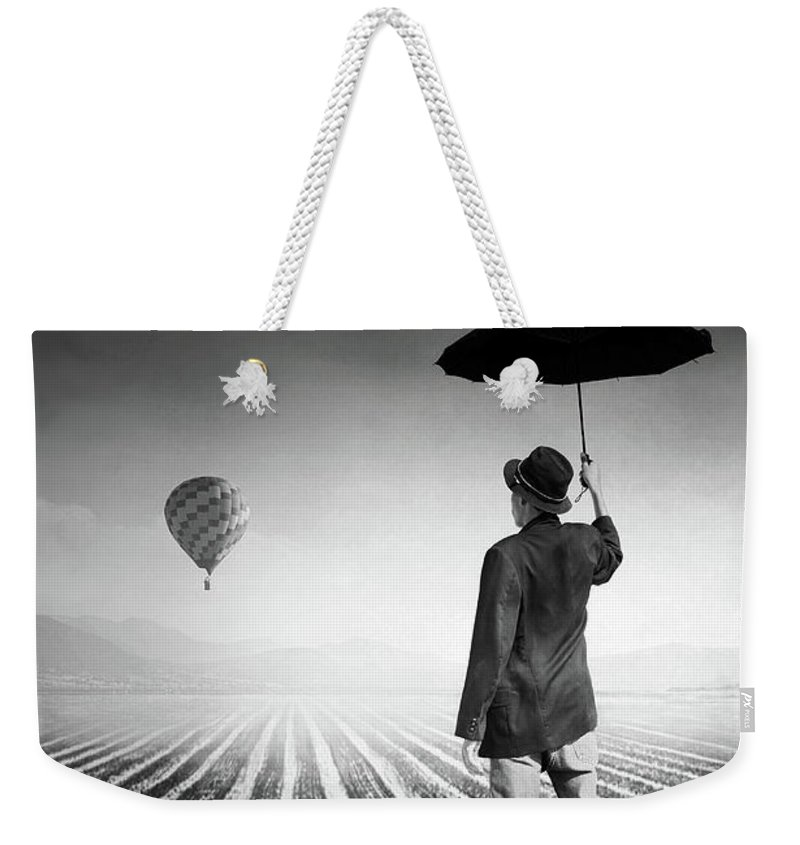 Shadow Weekender Tote Bag featuring the photograph Where Oblivion Dwells by Saul Landell / Mex