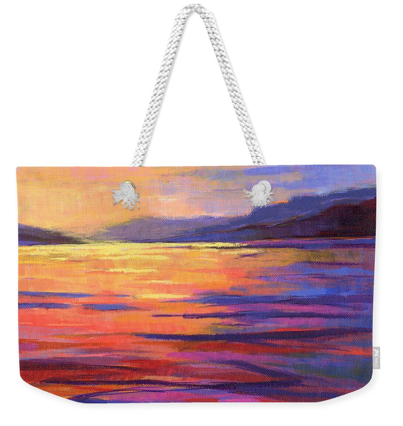 Water Weekender Tote Bag featuring the painting Where The Whales Play 2 by Konnie Kim