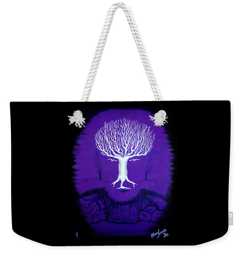 Landscape Weekender Tote Bag featuring the painting Where Wolf? by Glenn Scano