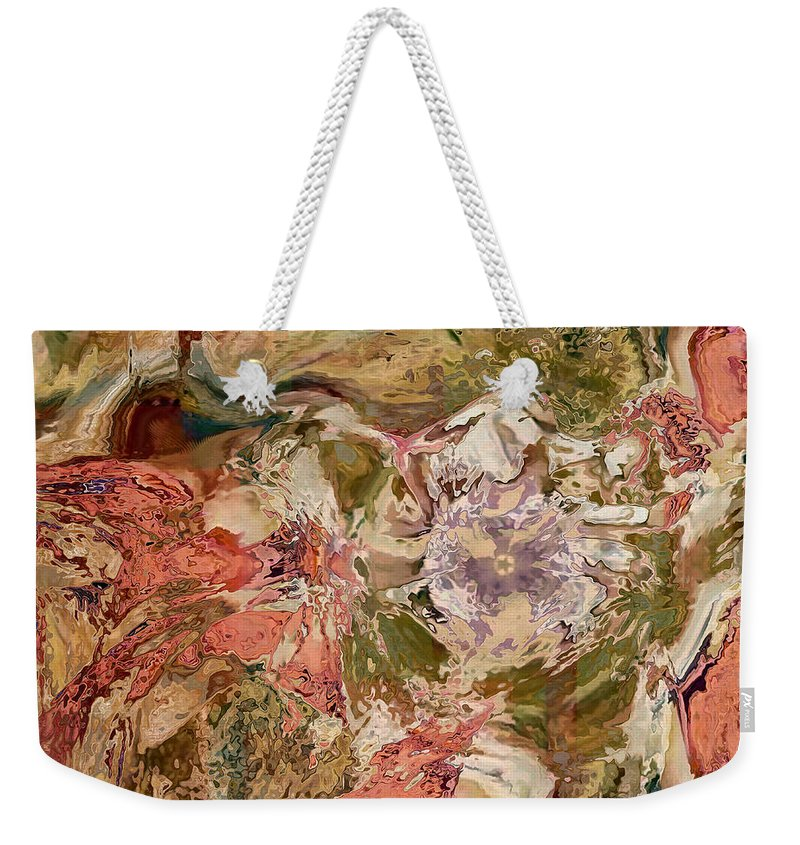 Abstract Weekender Tote Bag featuring the digital art While The Lady Lay Sleeping by Georgiana Romanovna