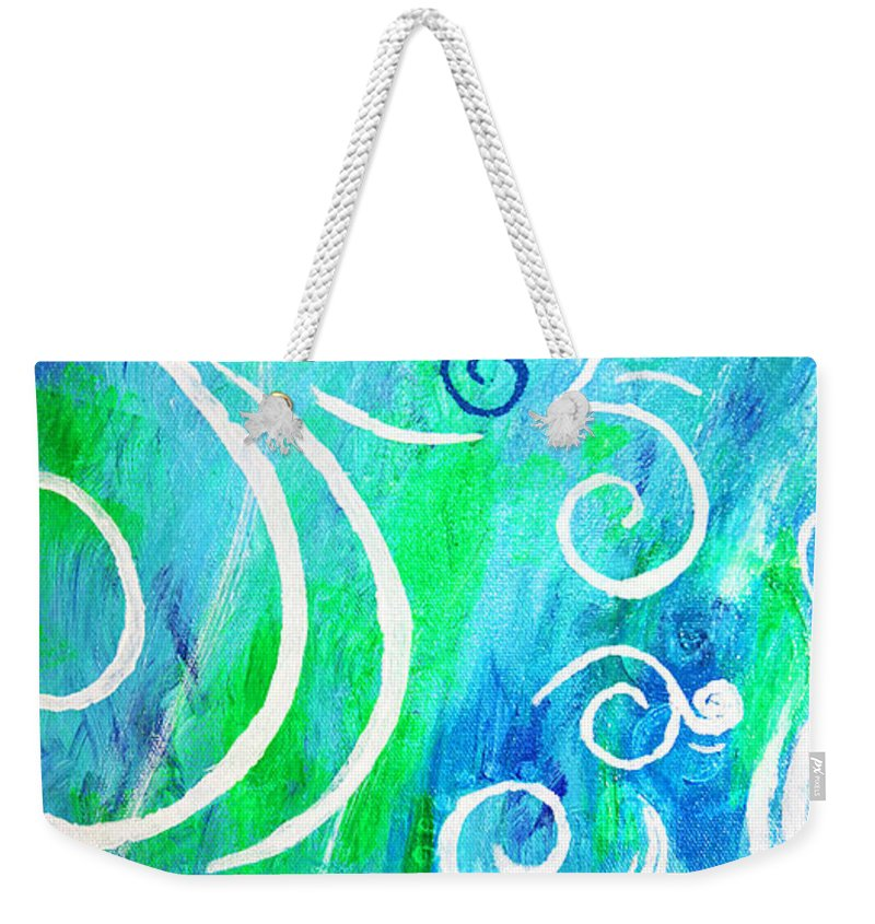 Swirls Weekender Tote Bag featuring the painting Whimsical By Jan Marvin by Jan Marvin