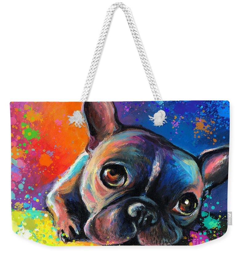 French Bulldog Weekender Tote Bags