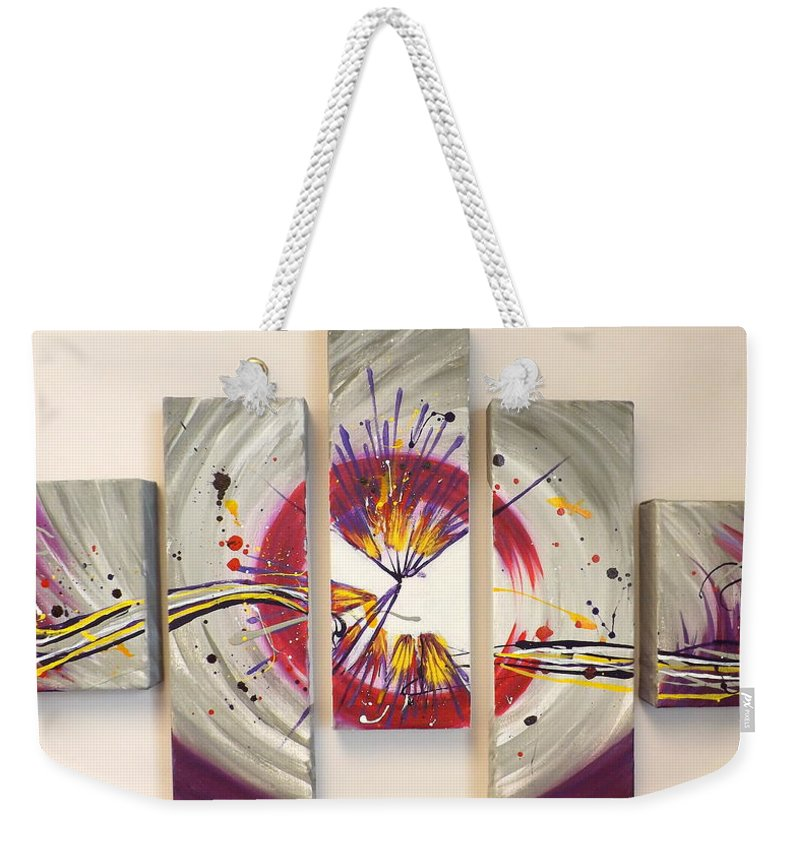 Whiplash Weekender Tote Bag featuring the painting Whiplash by Darren Robinson