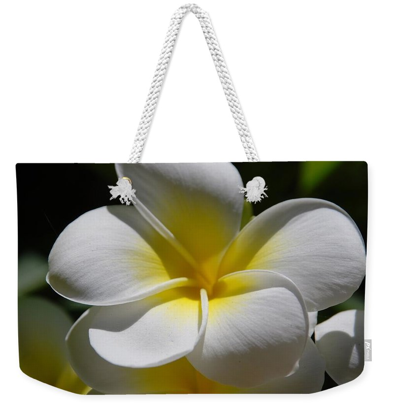Nature Weekender Tote Bag featuring the photograph White Bloom by Rob Hans