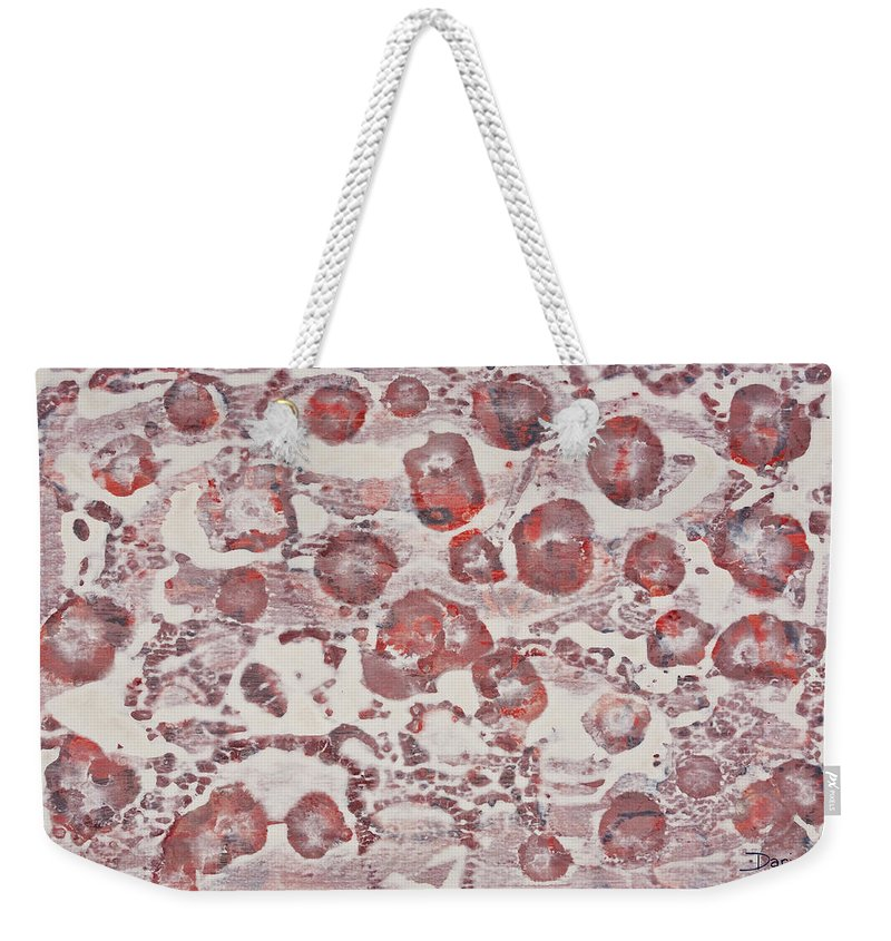 Abstract Weekender Tote Bag featuring the painting White by Darice Machel McGuire
