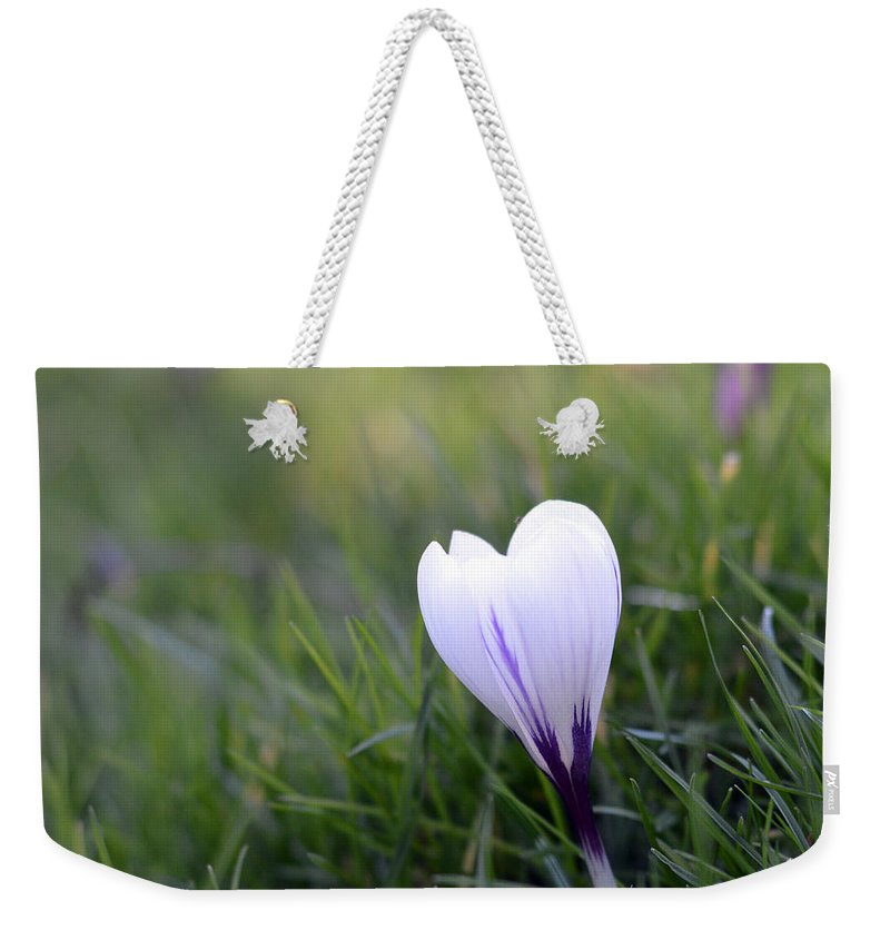 Flowers Weekender Tote Bag featuring the photograph White Heart by Sebastiano Secondi