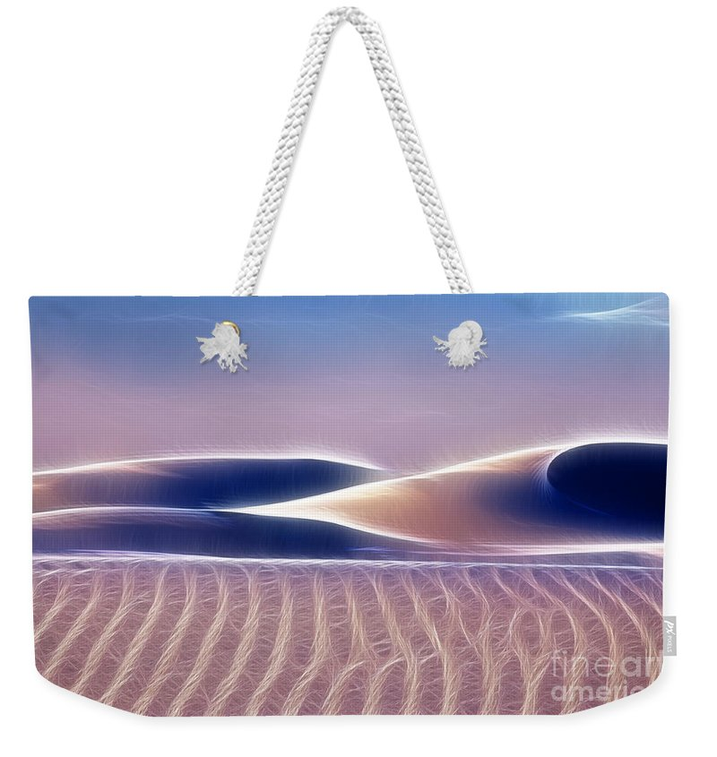 White Sands Weekender Tote Bag featuring the photograph White Sands Abstract by Vivian Christopher