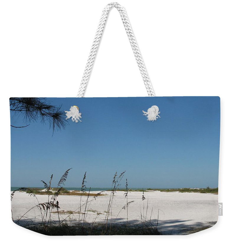 Beach Weekender Tote Bag featuring the photograph Whitesand Beach by Christiane Schulze Art And Photography