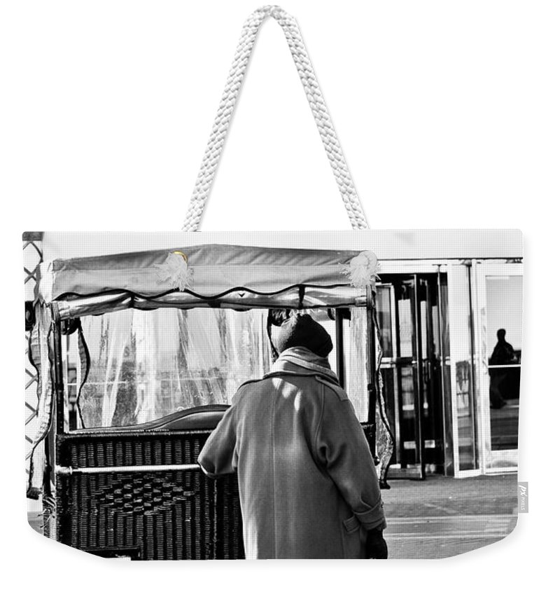 Man Weekender Tote Bag featuring the mixed media Who Needs A Ride by Trish Tritz