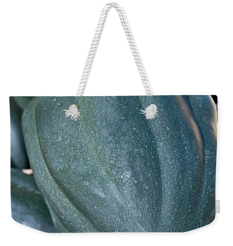 Squash Weekender Tote Bag featuring the photograph Whole Acorn Squash Art Prints by Valerie Garner