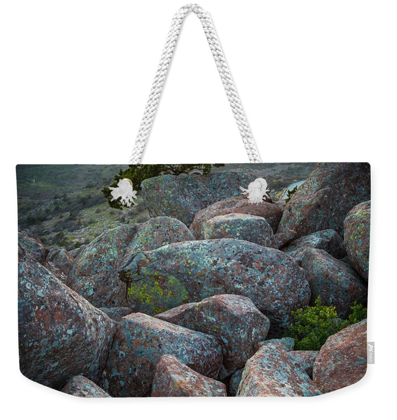 America Weekender Tote Bag featuring the photograph Wichita Mountains by Inge Johnsson