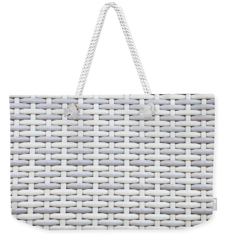 Abstract Weekender Tote Bag featuring the photograph Wicker by Tom Gowanlock