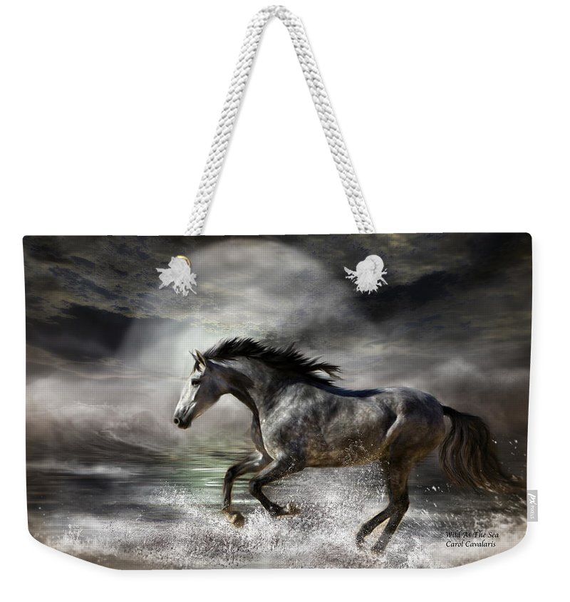 Horse Weekender Tote Bag featuring the photograph Wild As The Sea by Carol Cavalaris