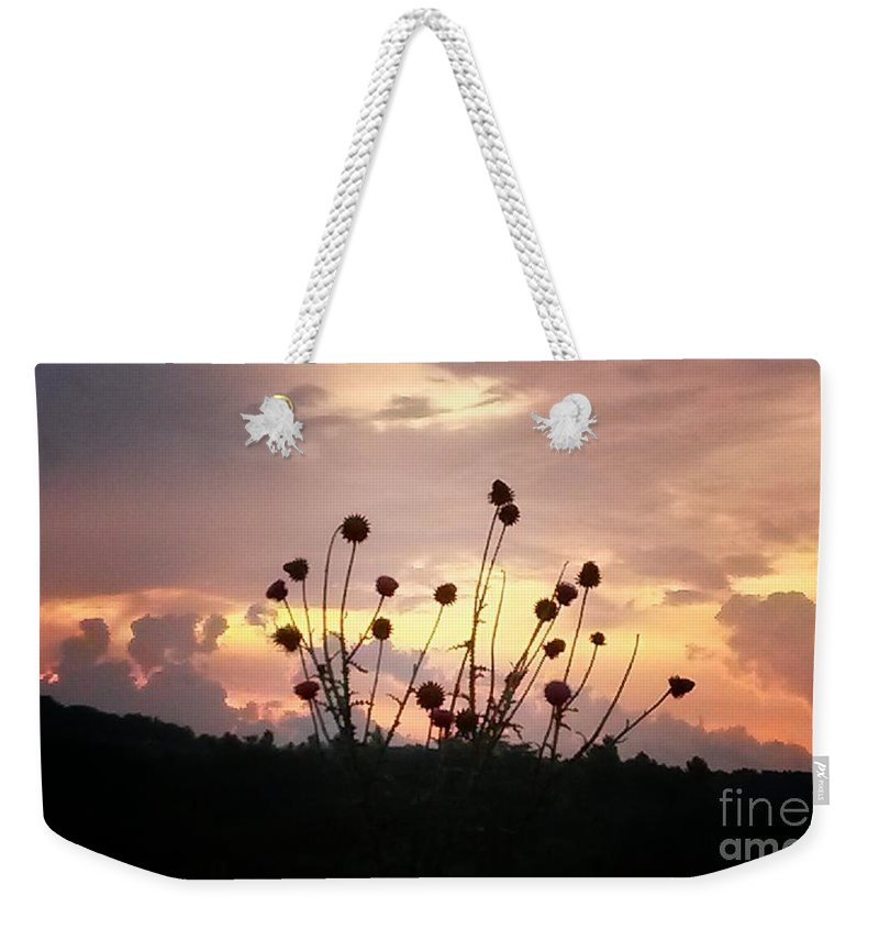 Wild Bouquet Weekender Tote Bag featuring the photograph Wild Bouquet by Maria Urso