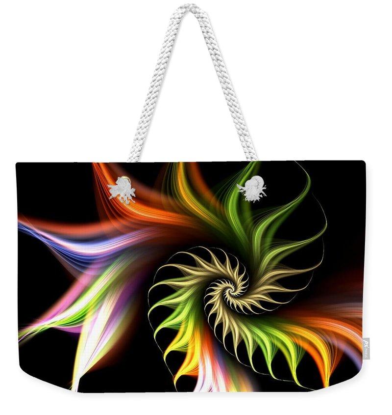 Malakhova Weekender Tote Bag featuring the digital art Wild Flower by Anastasiya Malakhova