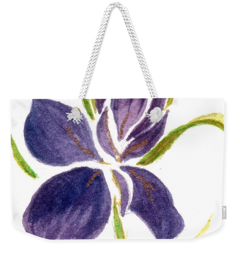Wild Weekender Tote Bag featuring the painting Wild Flower by Tis Art