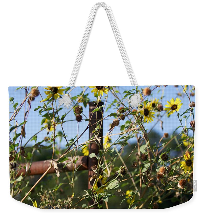 Yellow Flowers Weekender Tote Bag featuring the photograph Wild Growth by Erika Weber