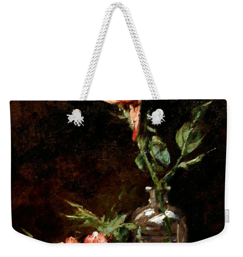 Floral Weekender Tote Bag featuring the painting Wild Irish by Jim Gola