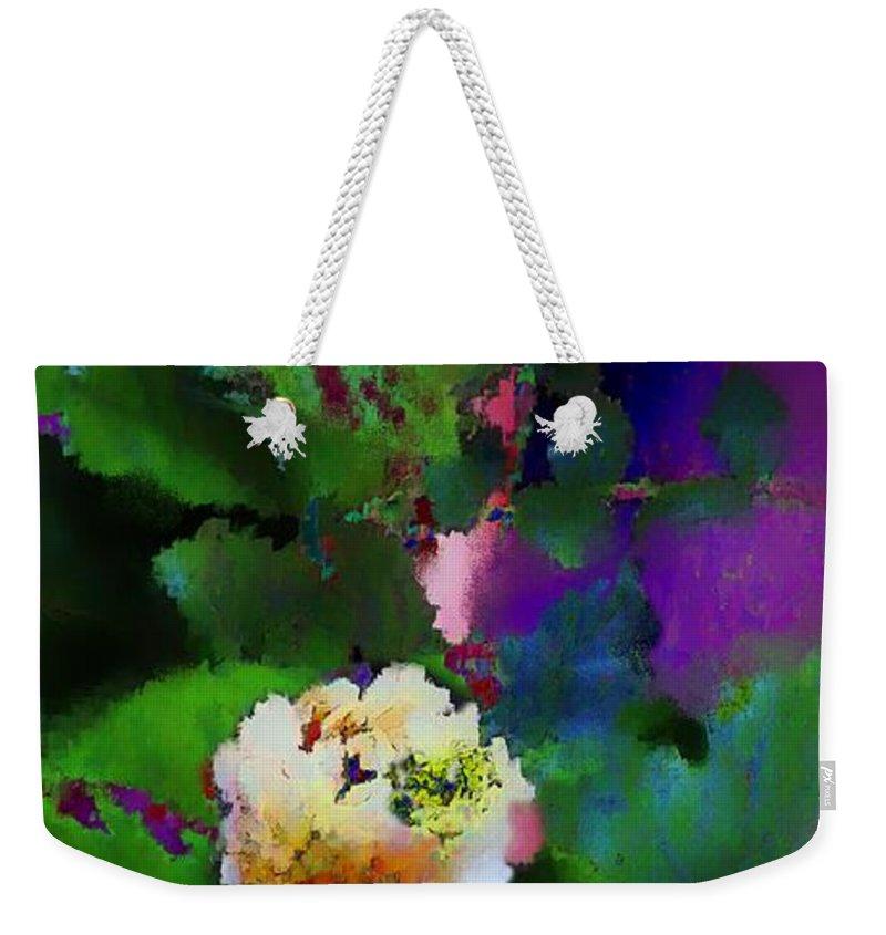 Jasmine Flowers Weekender Tote Bag featuring the digital art Wild Jasmine by Colleen Taylor