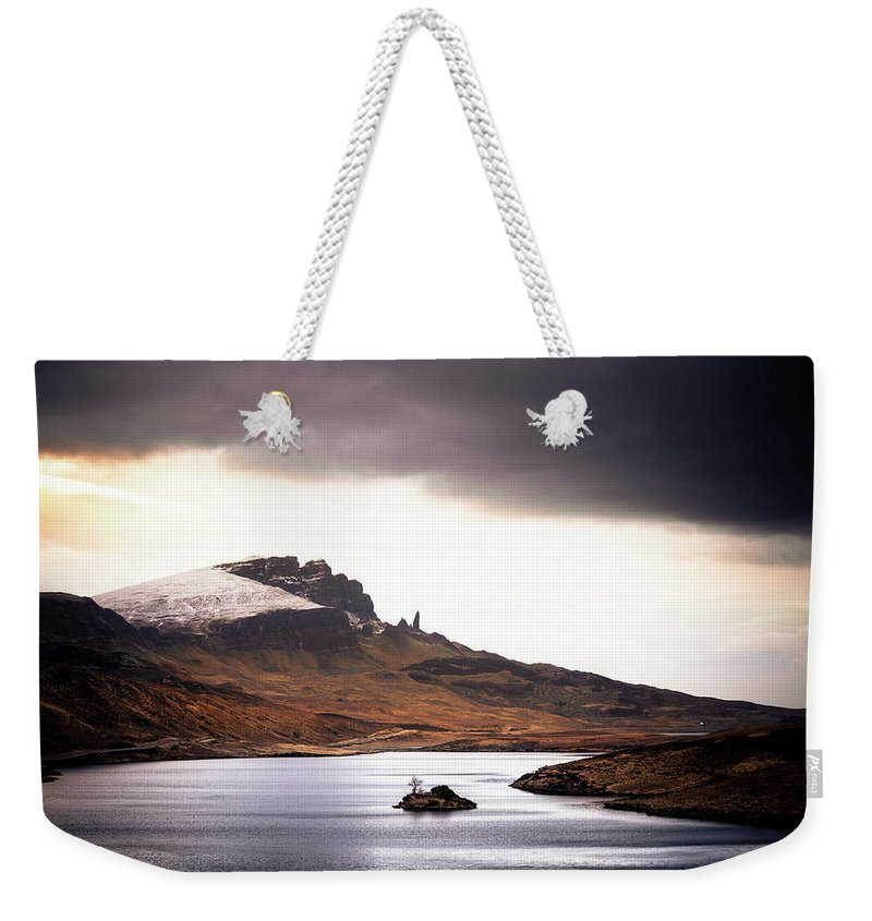 Water's Edge Weekender Tote Bag featuring the photograph Wild Nature Landscape In Scotland, Isle by Zodebala