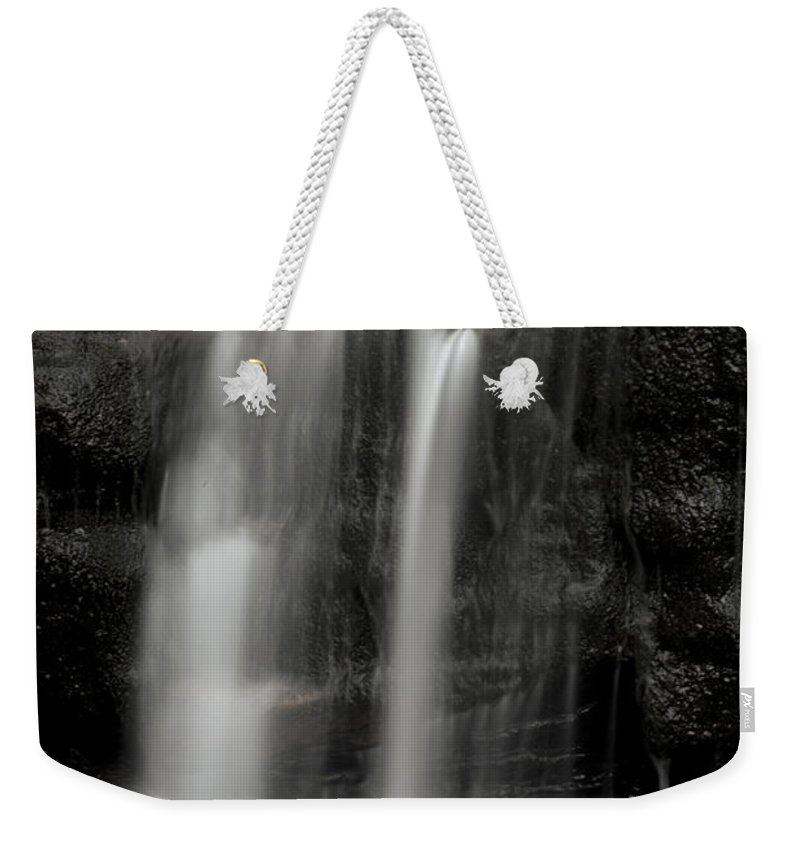 Canyon Weekender Tote Bag featuring the photograph Wilderness Waterfall by John Stephens