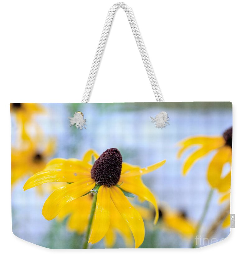 Flower Weekender Tote Bag featuring the photograph Wildflowers by Edward Fielding