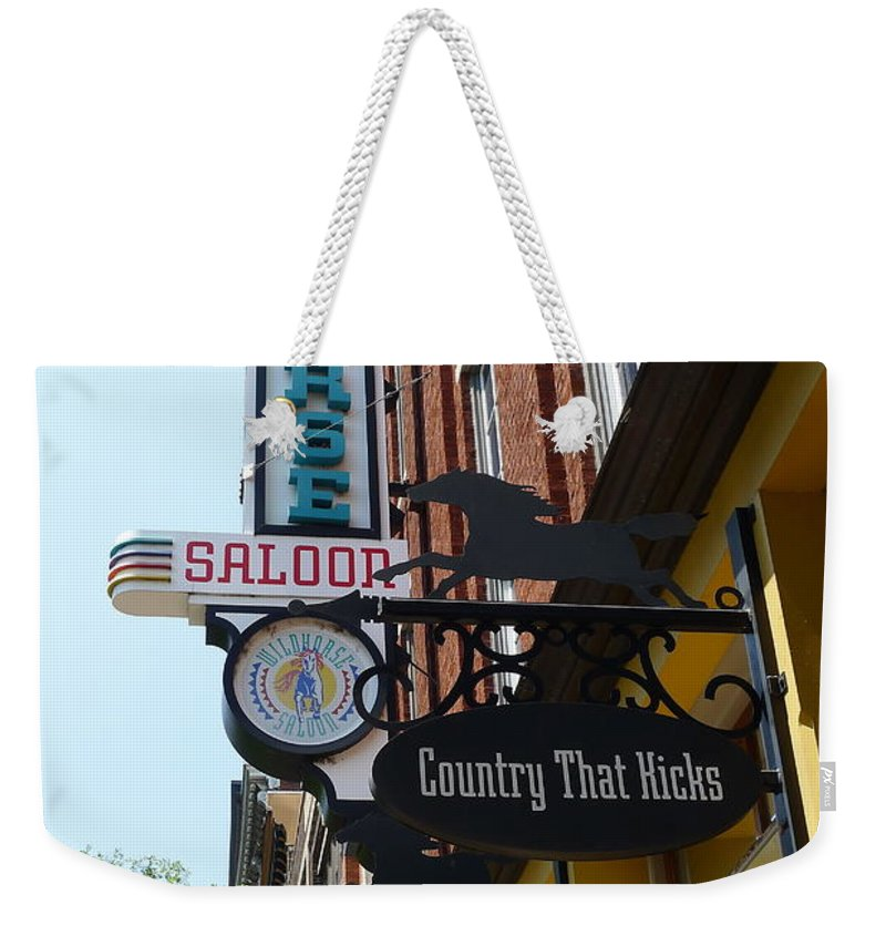 Wildhorse Weekender Tote Bag featuring the photograph Wildhorse Saloon by Denise Mazzocco