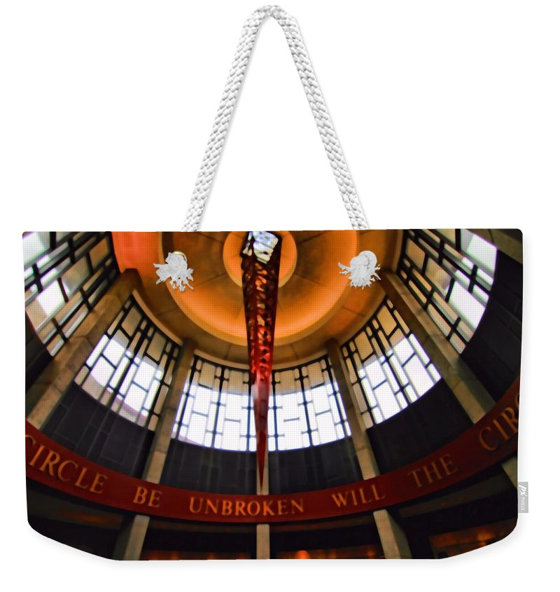 Will The Circle Be Unbroken Weekender Tote Bag featuring the photograph Will The Circle Be Unbroken by Dan Sproul