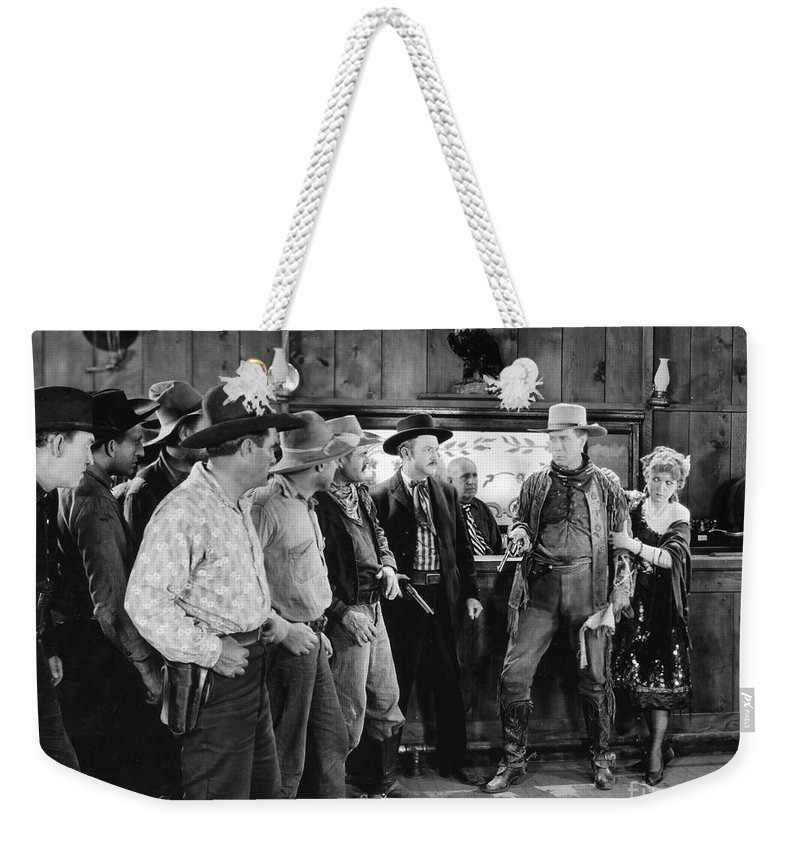 1920s Weekender Tote Bag featuring the photograph William S. Hart (1870-1946) by Granger
