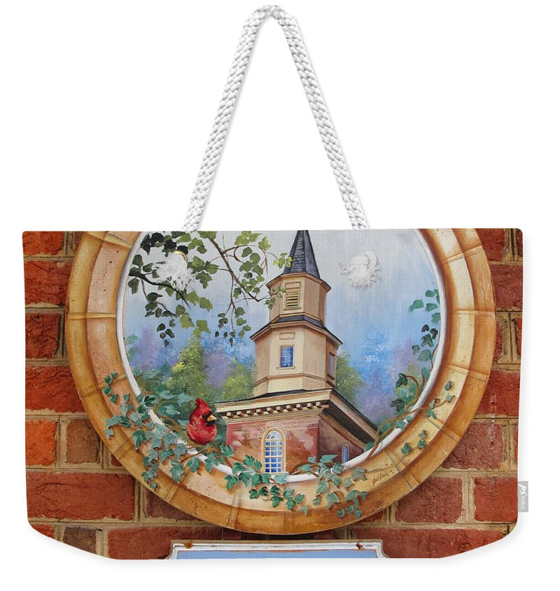 Sign Weekender Tote Bag featuring the photograph Williamsburg Shop Sign by Dave Mills