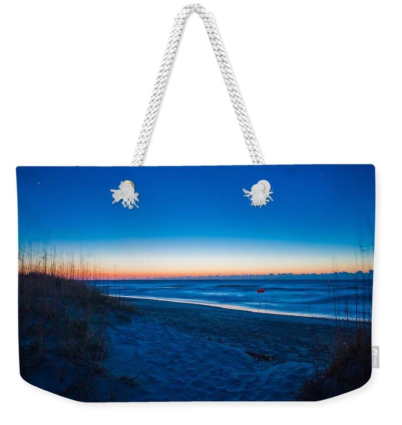 Blue Weekender Tote Bag featuring the photograph Wilmington Coastal Scene Wilmington North Carolina by Alex Grichenko