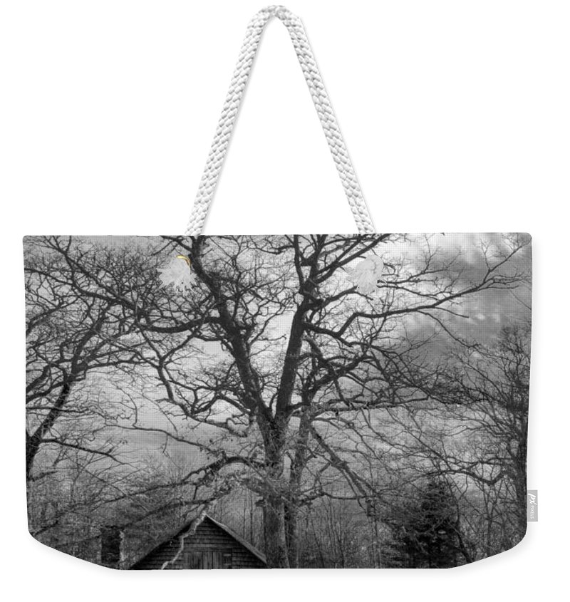 Appalachia Weekender Tote Bag featuring the photograph Wilson Lick Ranger Station by Debra and Dave Vanderlaan