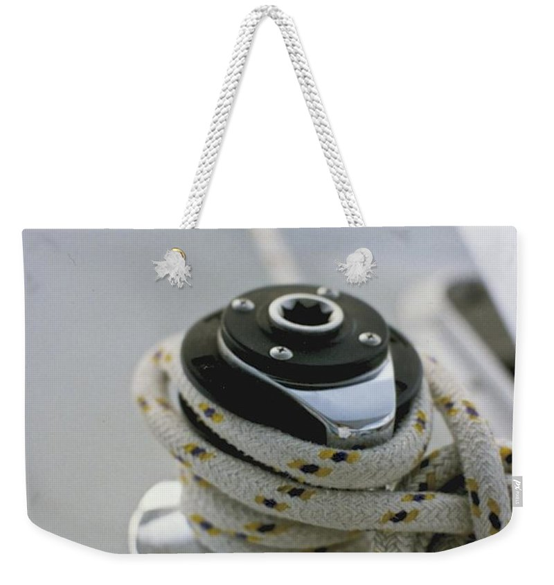 Sail Weekender Tote Bag featuring the photograph Winch by William Norton