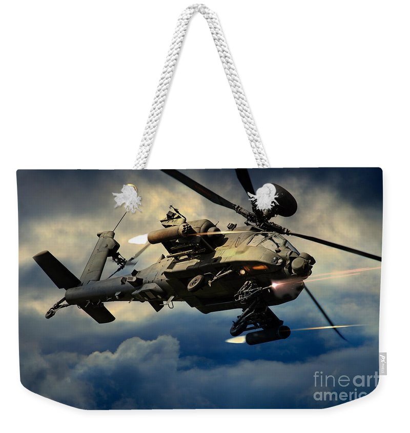Apache Weekender Tote Bag featuring the digital art Winchester by J Biggadike