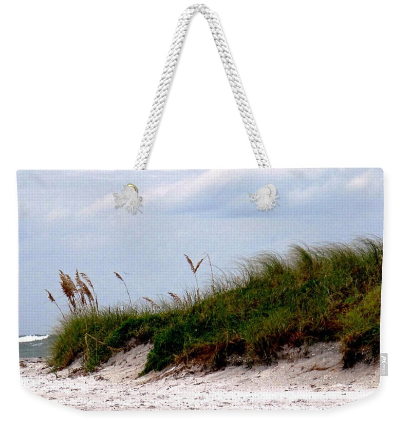 Beach Weekender Tote Bag featuring the photograph Wind In The Seagrass by Ian MacDonald