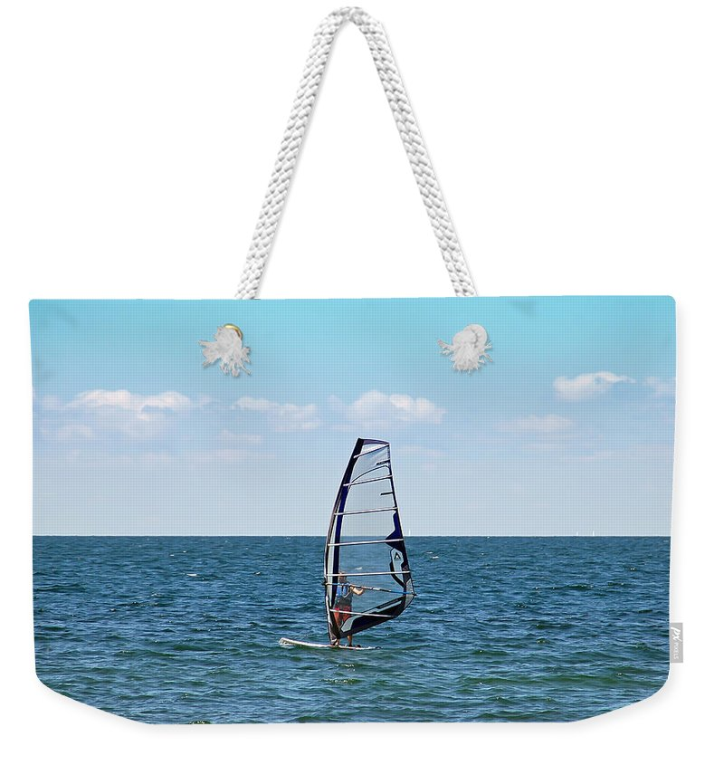 Windsurfer Weekender Tote Bag featuring the photograph Wind Surfer by Aimee L Maher ALM GALLERY