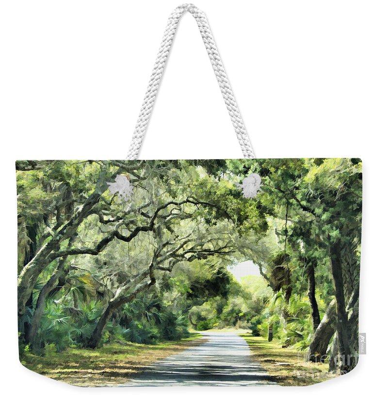 Road Weekender Tote Bag featuring the photograph Winding Path by Deborah Benoit