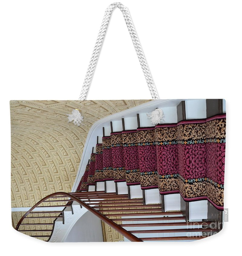 Winding Weekender Tote Bag featuring the photograph Winding Staircase by Kathleen Struckle